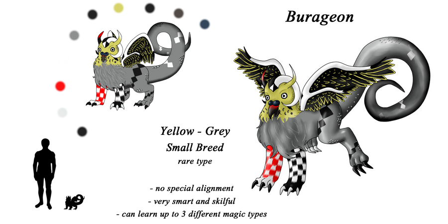 Burageon Adopt: Yellow-Grey by Beagon
