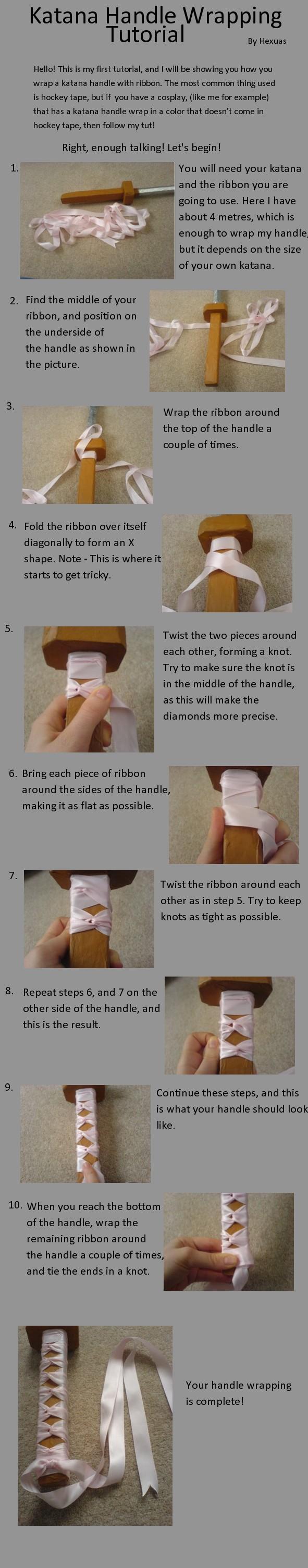 Katana Handle Wrapping Tut