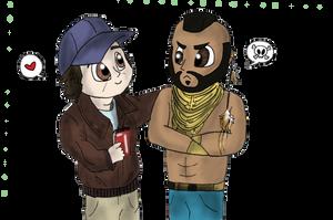 Murdock and B.A. Chibi