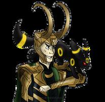 Loki and Umbreon by Bane-Shadows