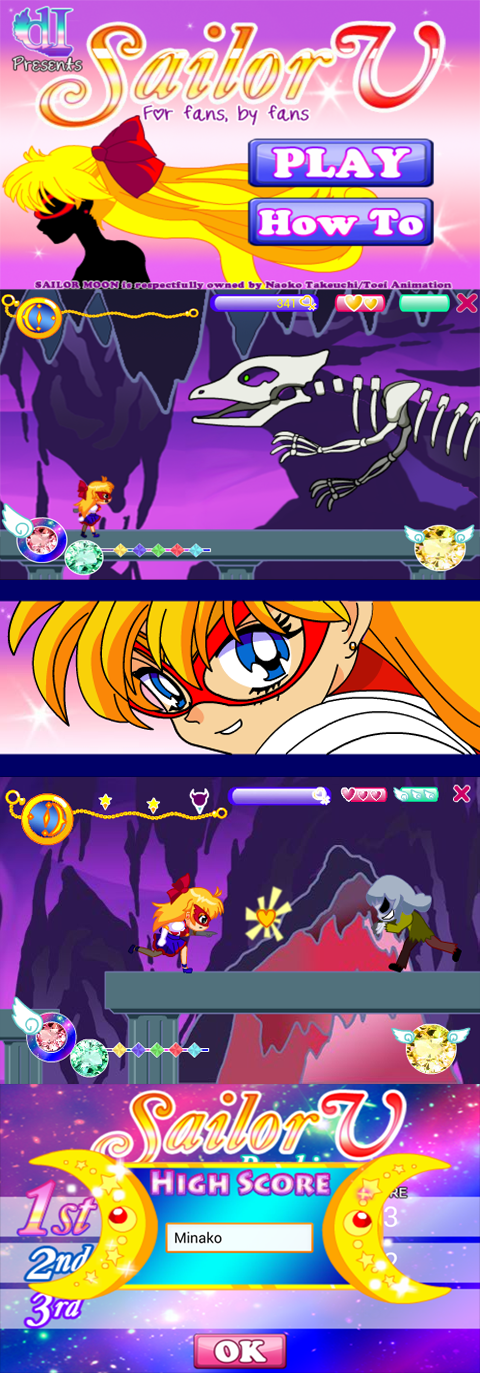 Sailor V Game - iOS and Android by Rhythmn