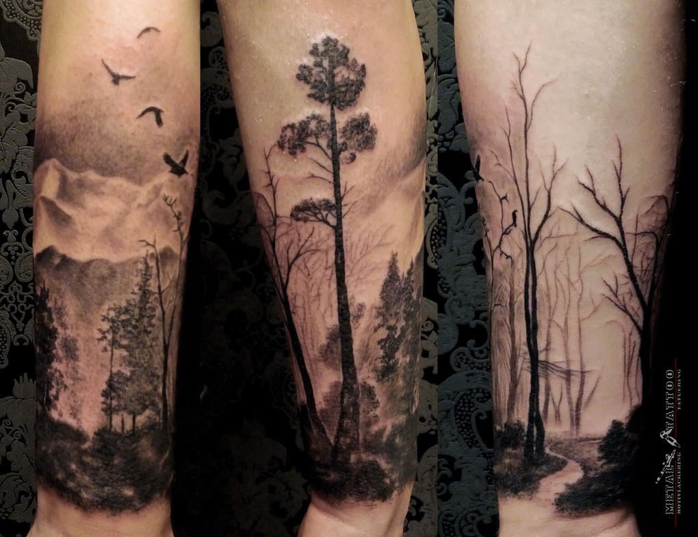 Тату дерево фото, эскизы, значение TattooFotos