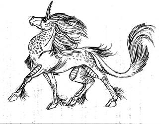 Ki'rin Sketch by shekeira