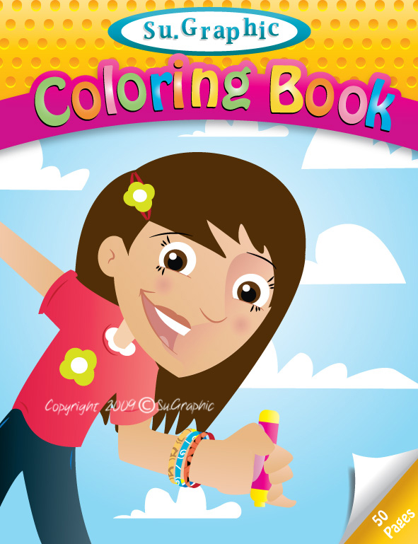 Coloring Book Cover : Coloring Book Cover by su graphic on DeviantArt
