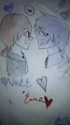 Vincent and me together for awhile by Fnaf111