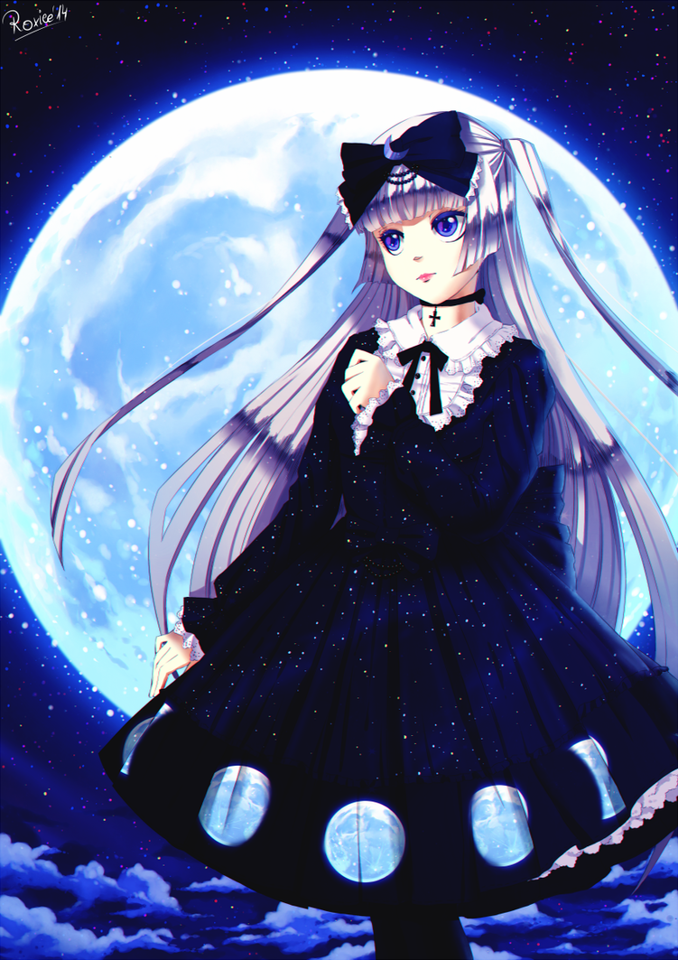 lunar phases by Roxiee-chan