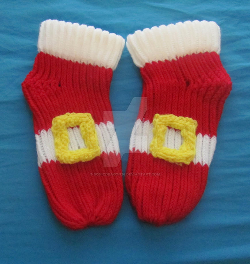 Hedgehog Slippers Knitting Pattern : Sonic The Hedgehog Slippers by SonicDragon26 on DeviantArt