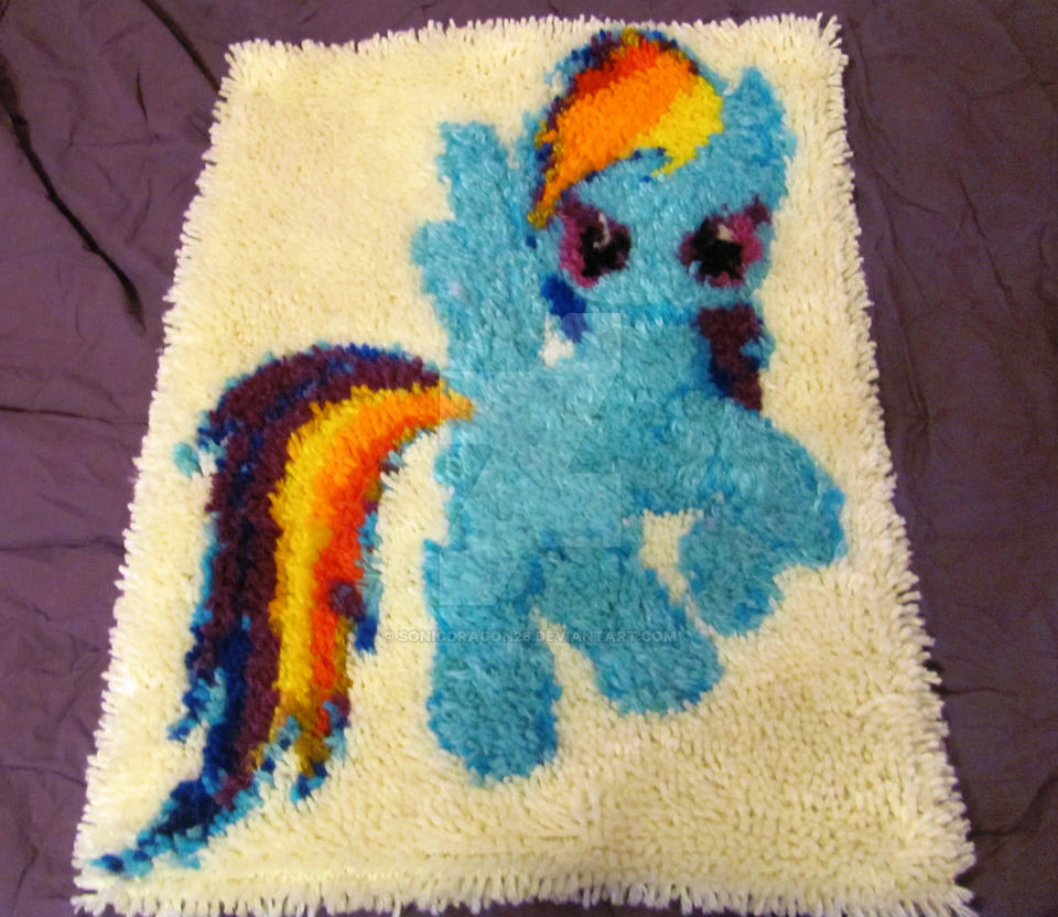My Little Pony Rainbow Dash Latch Hook Rug By SonicDragon26 ...