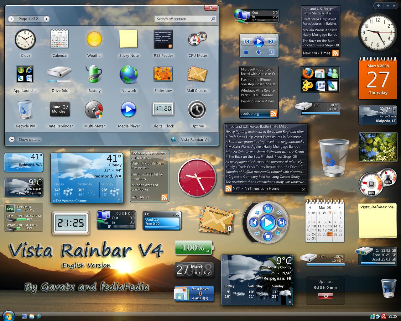 Гаджеты Для Боковой Панели Windows Xp