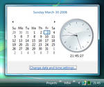 Vista Rainmeter Clock preview