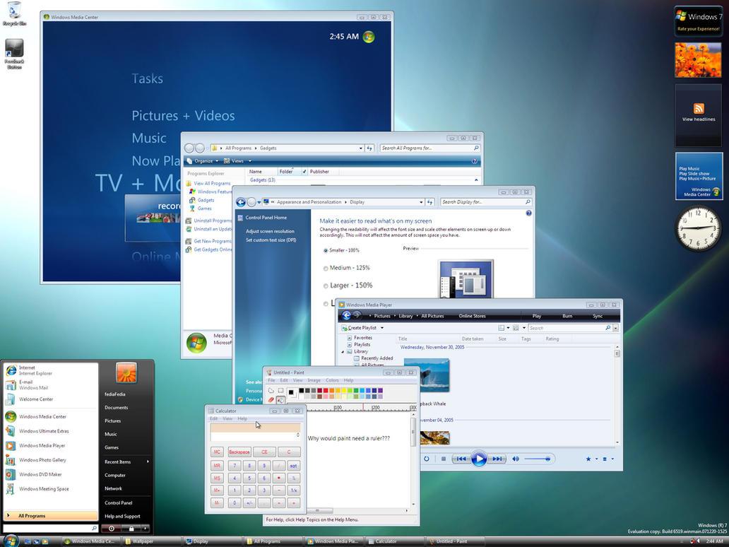 Как меньше сделать размер windows 7