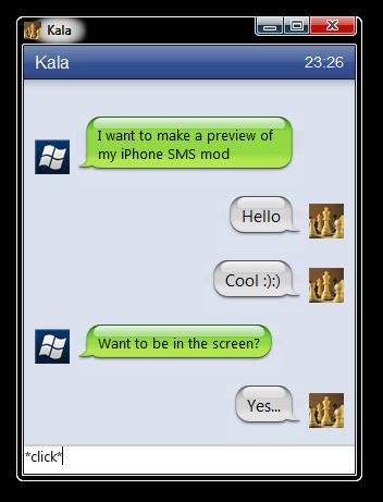 WIP -iPhone conversation theme by fediaFedia