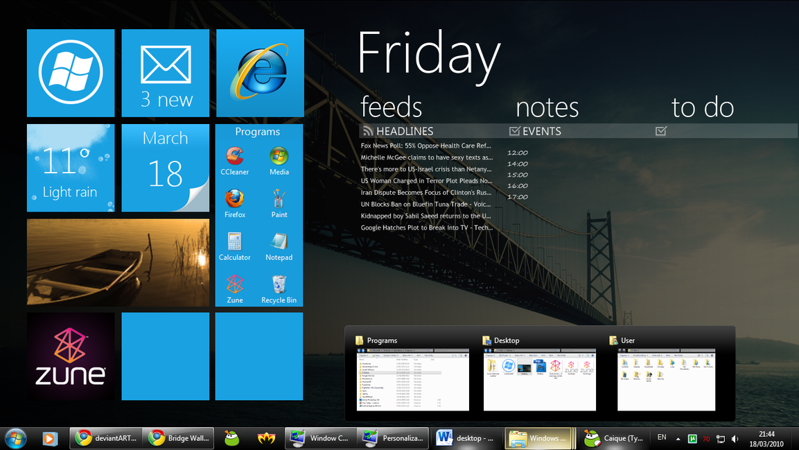 WIP - WP7 for rainmeter by fediaFedia