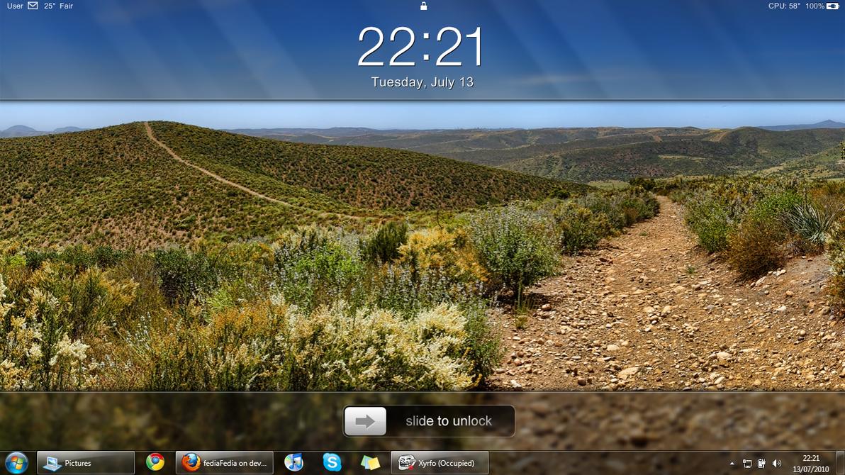 iPad clock desktop by fediaFedia