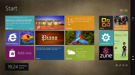 Another Windows 8 Start Screen