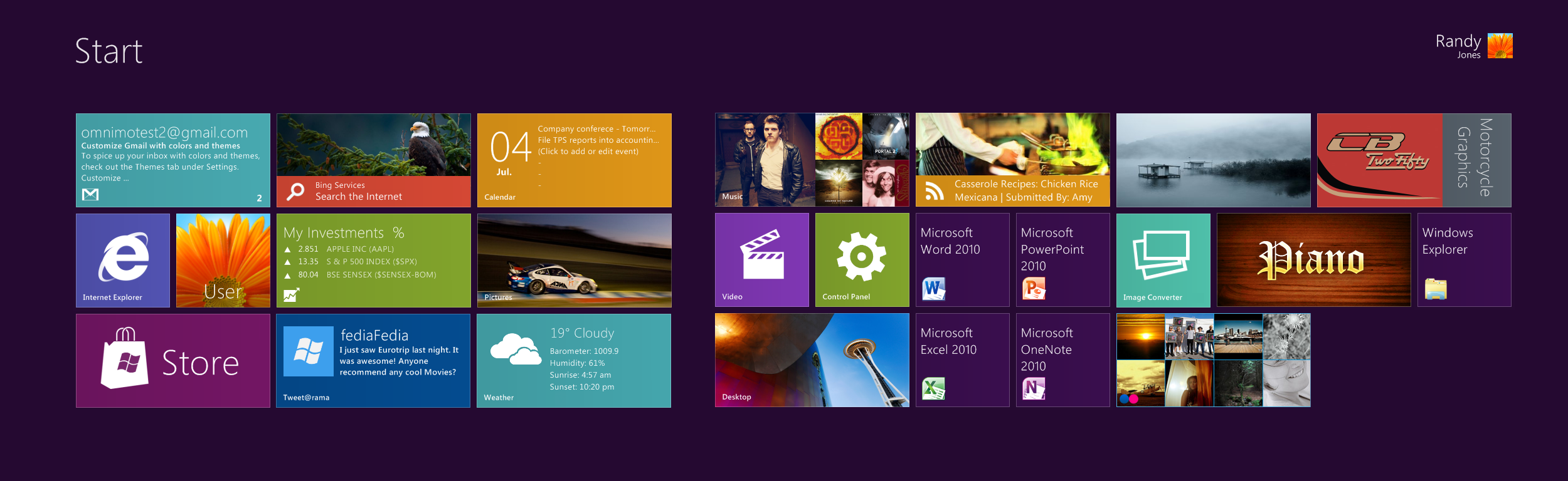 Omnimo new Win8 Panels preview by fediaFedia