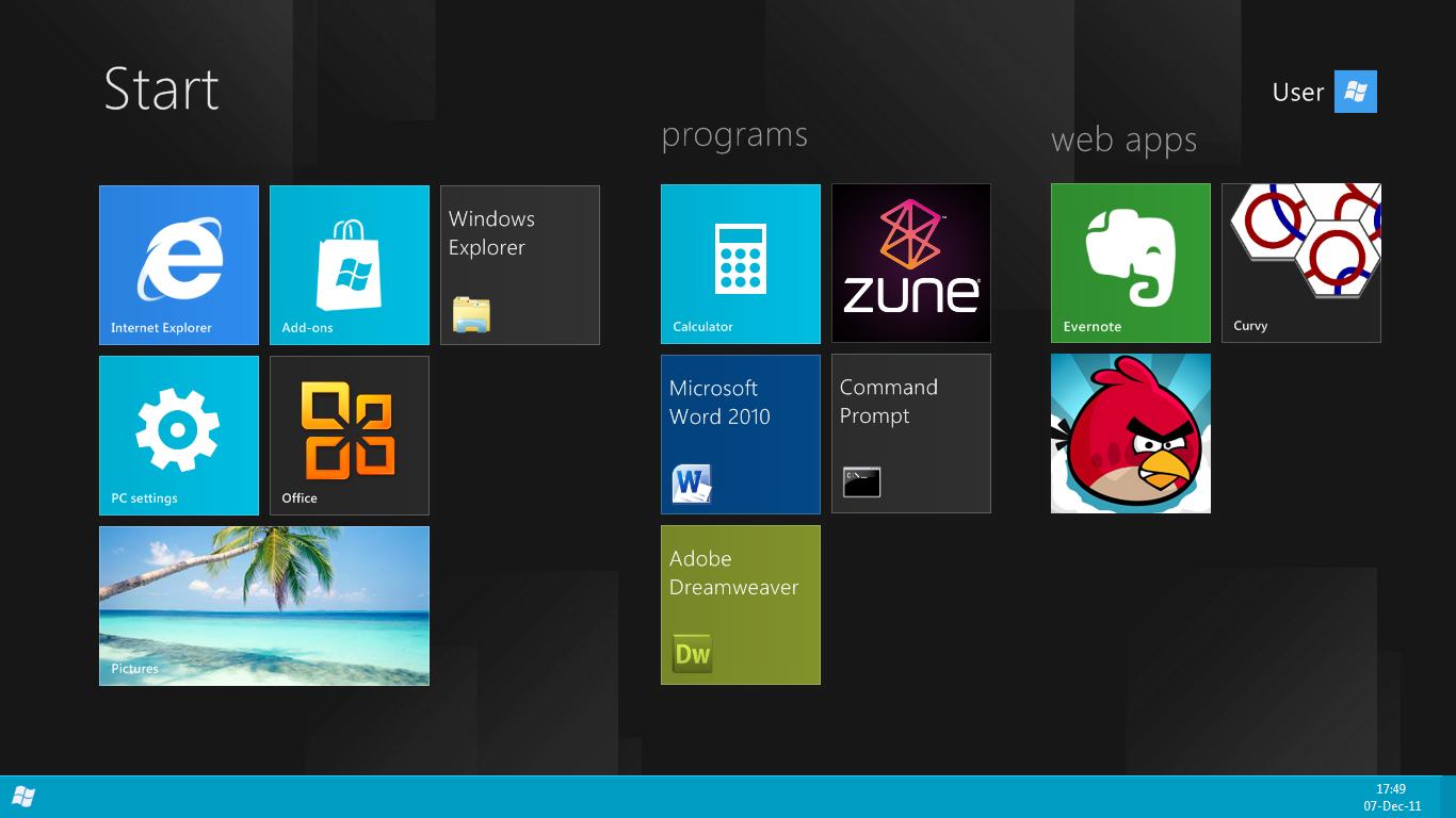 Win8 Build 8165 styled desk by fediaFedia