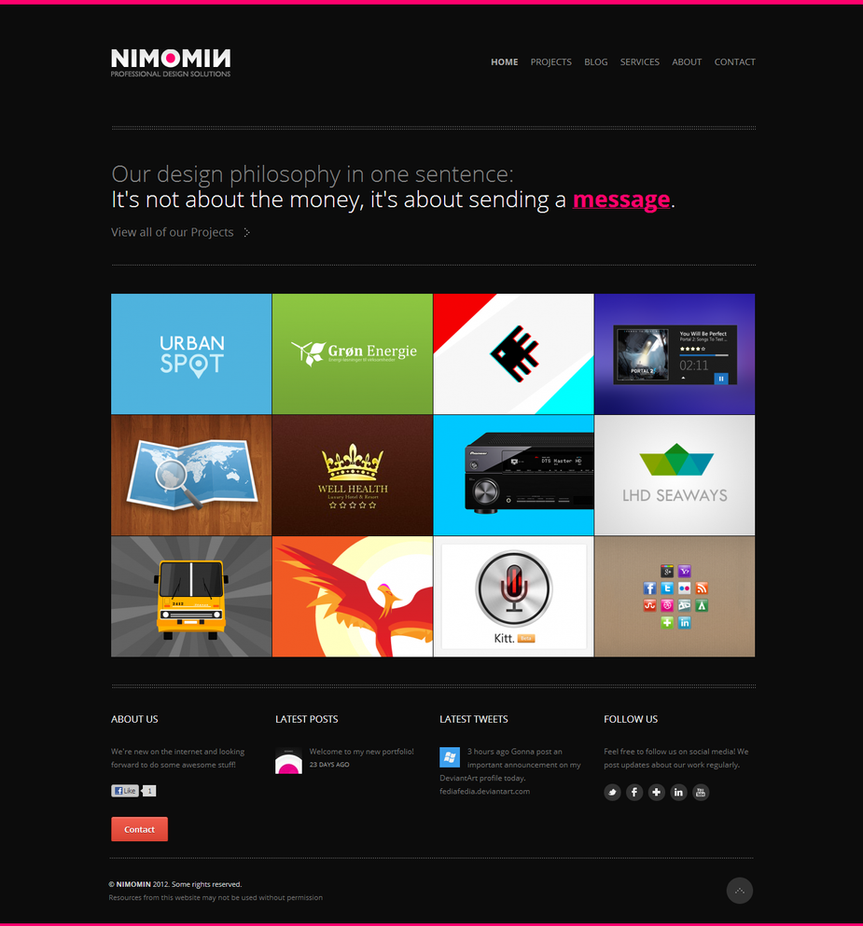 NIMOMIN Design website by fediaFedia