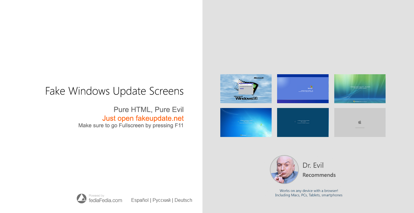 [prank] NEW fakeupate.net Windows Update Screens by fediaFedia