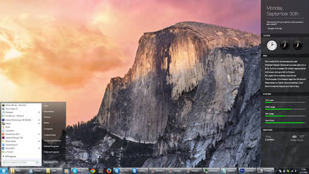 [WIP] Yosemite for Rainmeter / Windows by fediaFedia