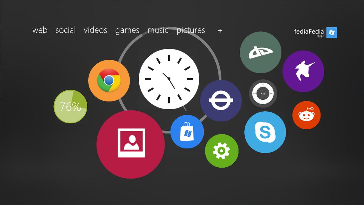 [WIP?] RONDA for Rainmeter - Apple Watch UI by fediaFedia