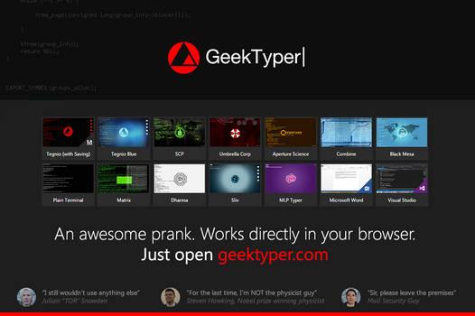 [web-app] GeekTyper+ - An Awesome Hacking Prank