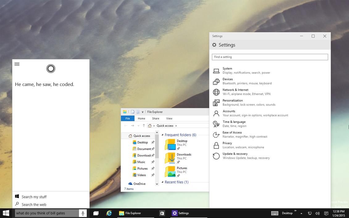 Windows 10 Build 9926 - Preview + DL links by fediaFedia