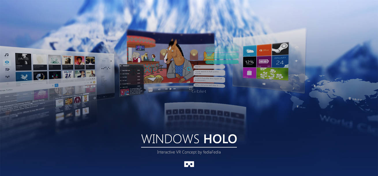 Interactive Concept - Windows HOLOGRAPHIC by fediaFedia