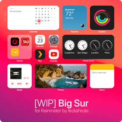 [WIP] Big Sur for Rainmeter