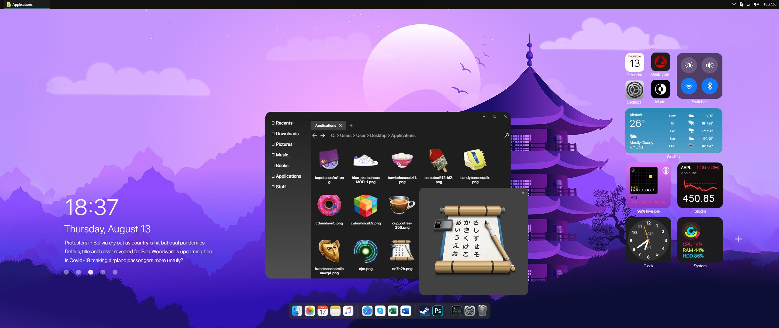 Oriental Desktop w/ Big Sur BETA3 - WIP