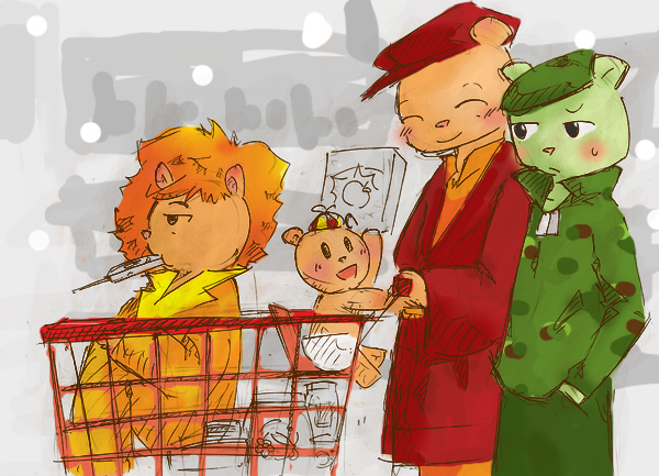 family shopping by piyoaaa