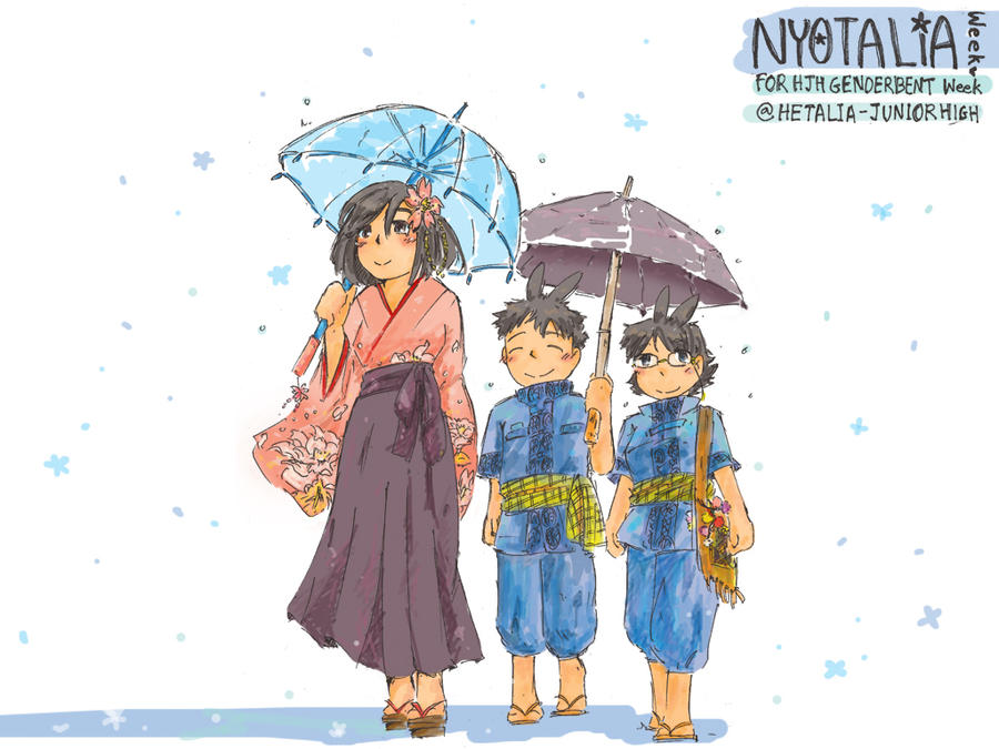 NyoWeekCon - Rainy Day by piyoaaa on DeviantArt Rainy Day Drawing Competition