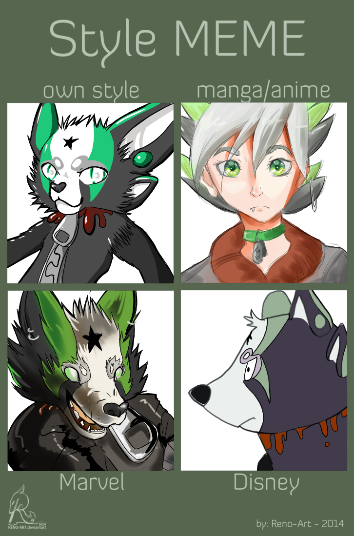 Style meme DONE by Tiny1Badger
