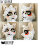 Aadair the Sugar Glider Lion Fursuit Head