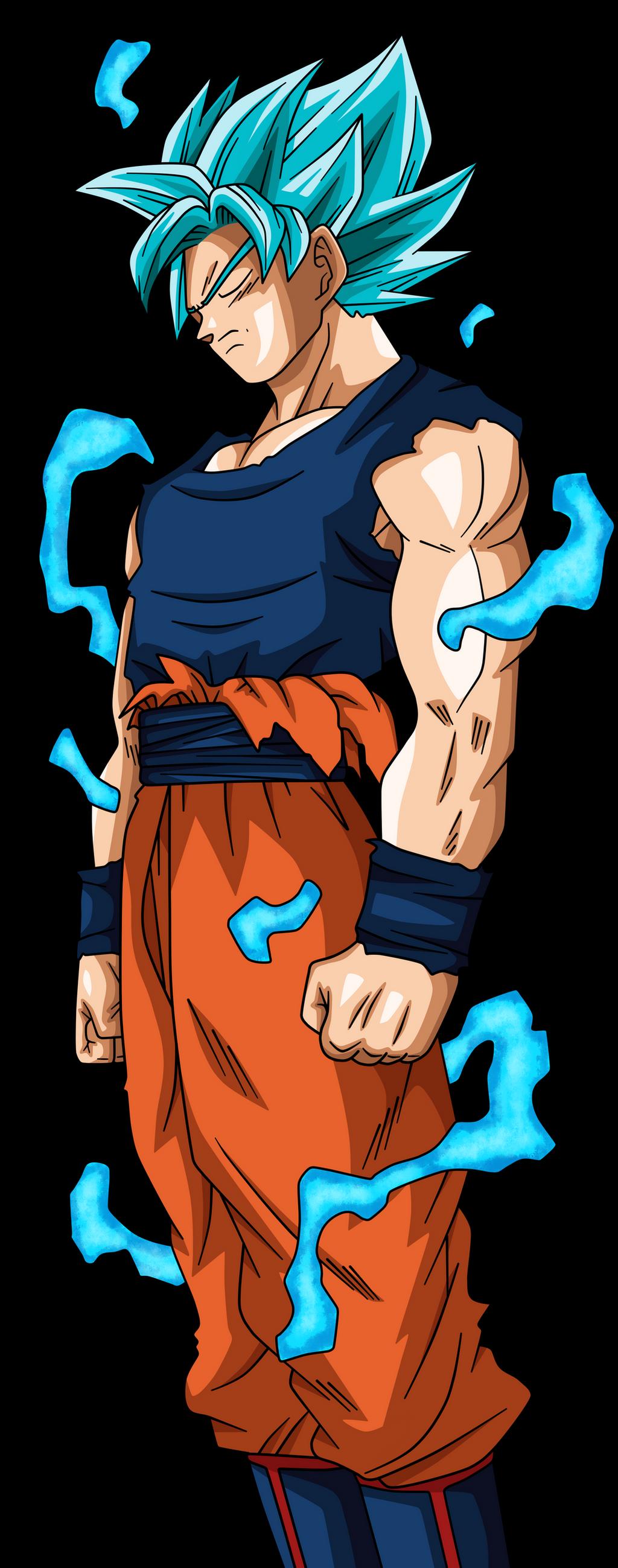 Goku SSJ Blue Full Power by XxCholo15xX on DeviantArt