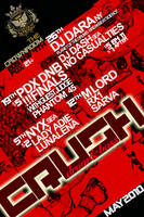 CRUSH drumnbass april flyer by penpointred