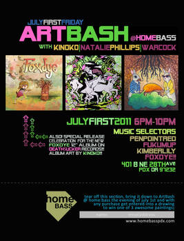 artbash july flyer