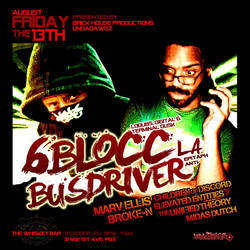 6blocc and busdriver flyer design