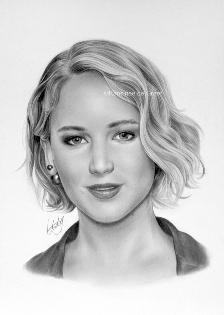 Jennifer Lawrence by kansineedegraefart
