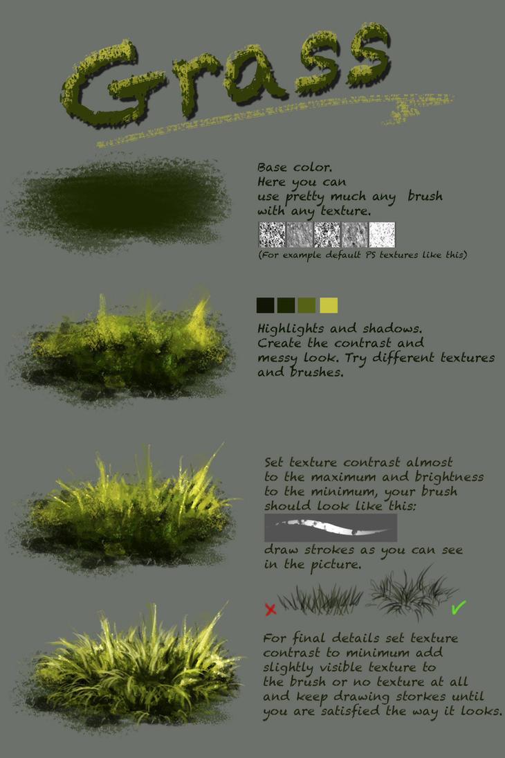 Grass tutorial by Fievy