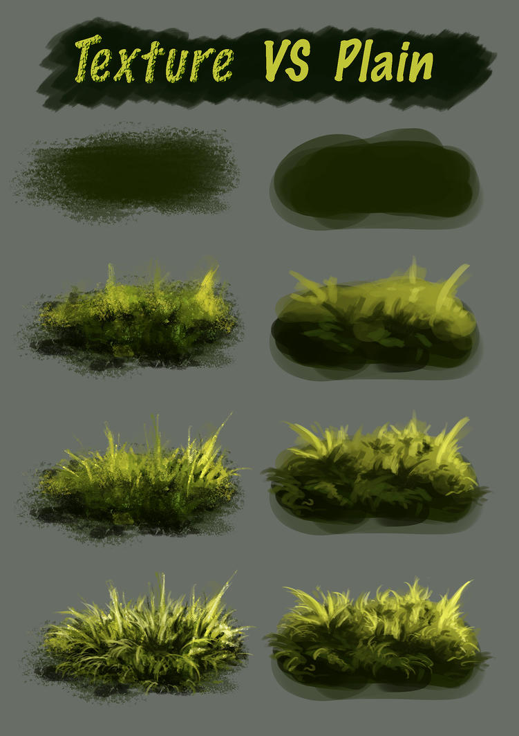 Texture Vs Plain Brush By Fievy On Deviantart