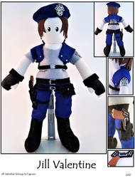 Jill Valentine Plushie by SoandSewPlushies