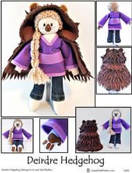 Deirdre Hedgehog Plushie by SoandSewPlushies