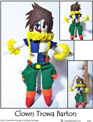 Clown Trowa Barton Plushie by SoandSewPlushies