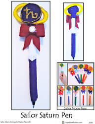 Sailor Saturn Pen by SoandSewPlushies