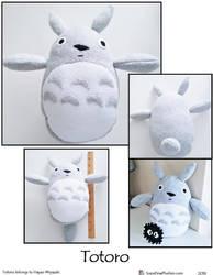 Totoro Plushie by SoandSewPlushies