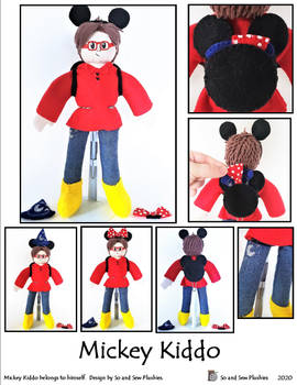 Mickey Kiddo Plushie