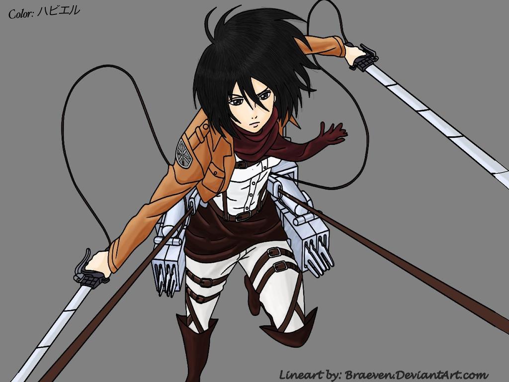 Color: Mikasa Ackerman