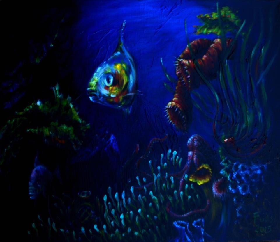 Depth(oil on canvas 90cm x 45cm) by bigbadfuds
