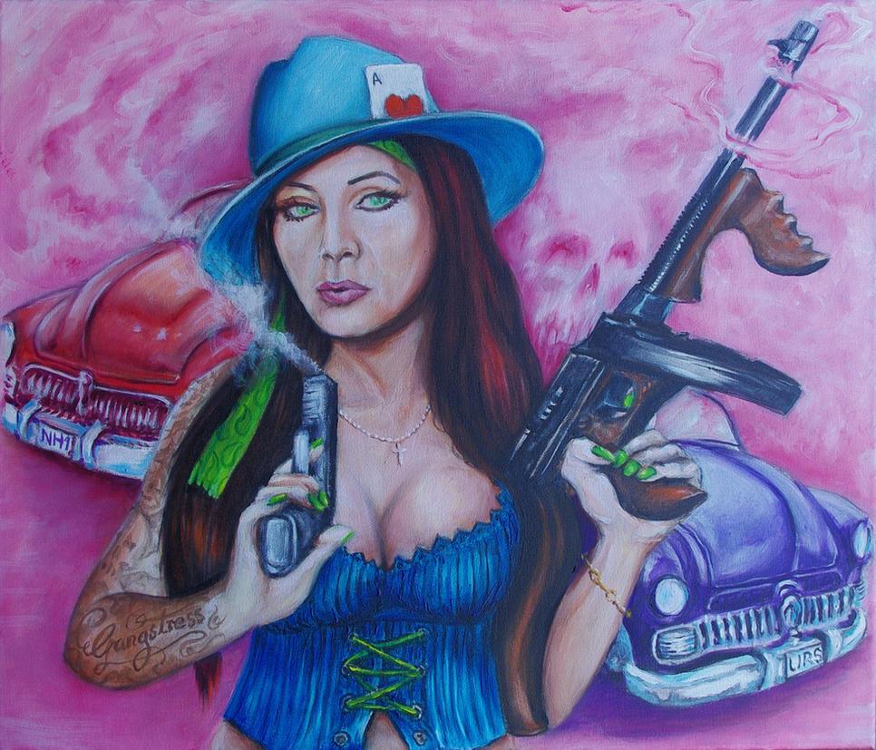 Gangstress(oil on canvas 60cm x 50cm) by bigbadfuds